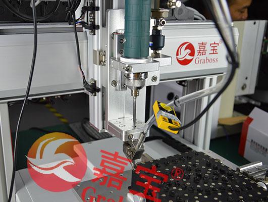 三轴桌面型滤波器自动锁螺丝机案例