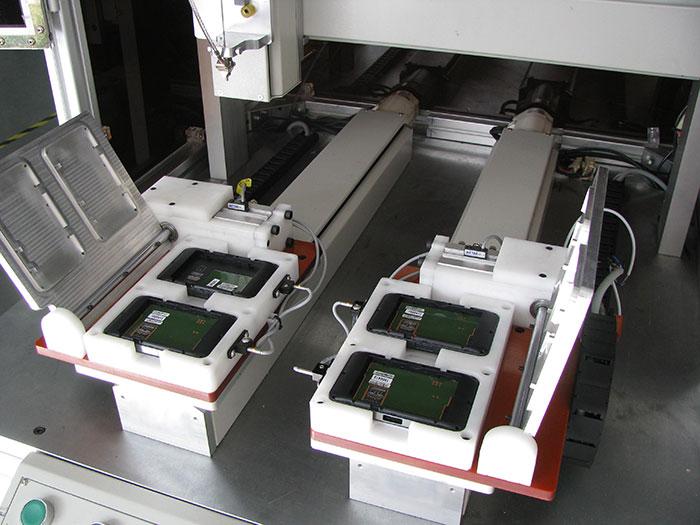 全自动柜式锁螺丝机车载WIFI实例